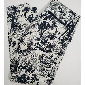 Zara Trafaluc Black and White Skinny Pants
